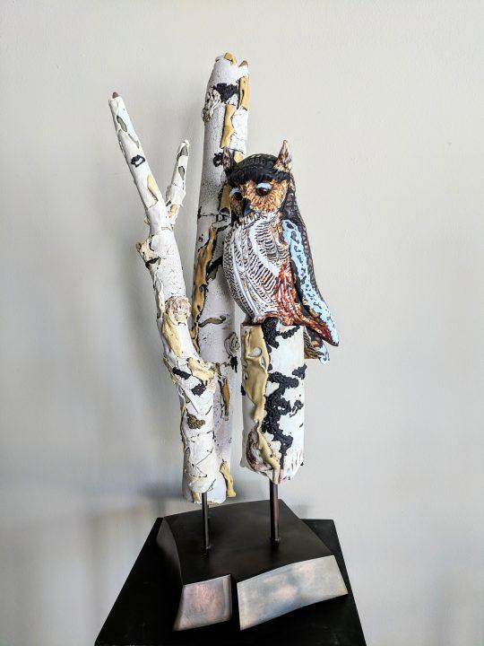 Karen Willenbrink-Johnsen glass art at Habatat Galleries