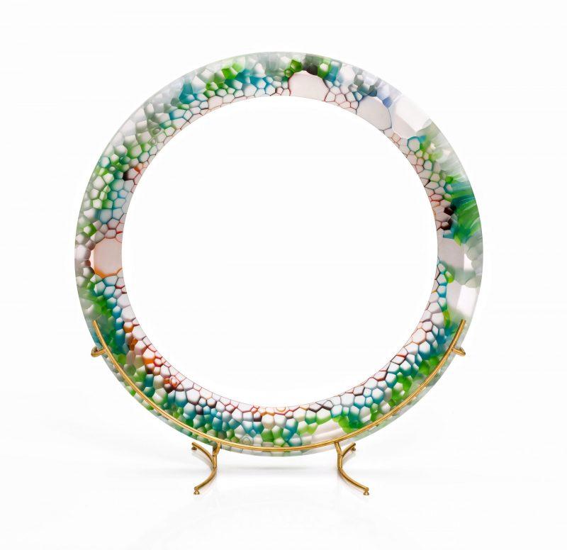 Robert Comploj glass sculpture