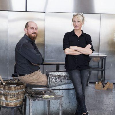 Backhaus Brown and Egevaerk glass artists