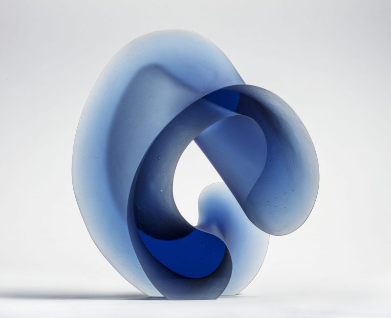 Cast glass sculpture by Karin Morch