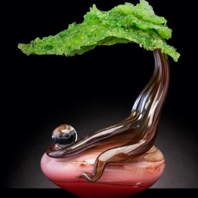 Eli Cecil glass bonsai trees