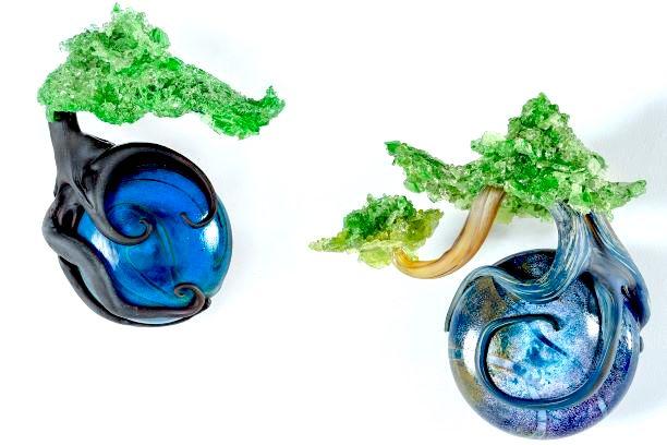 Eli Cecil glass bonsai
