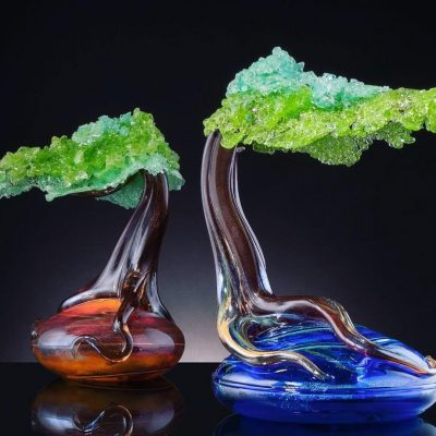 Eli Cecil glass sculpture