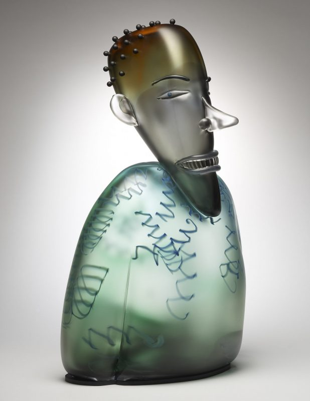 Glass sculpture by Dan Dailey