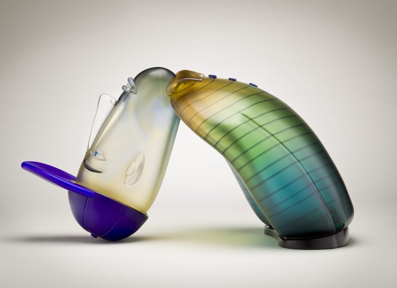 Glass art by Dan Dailey