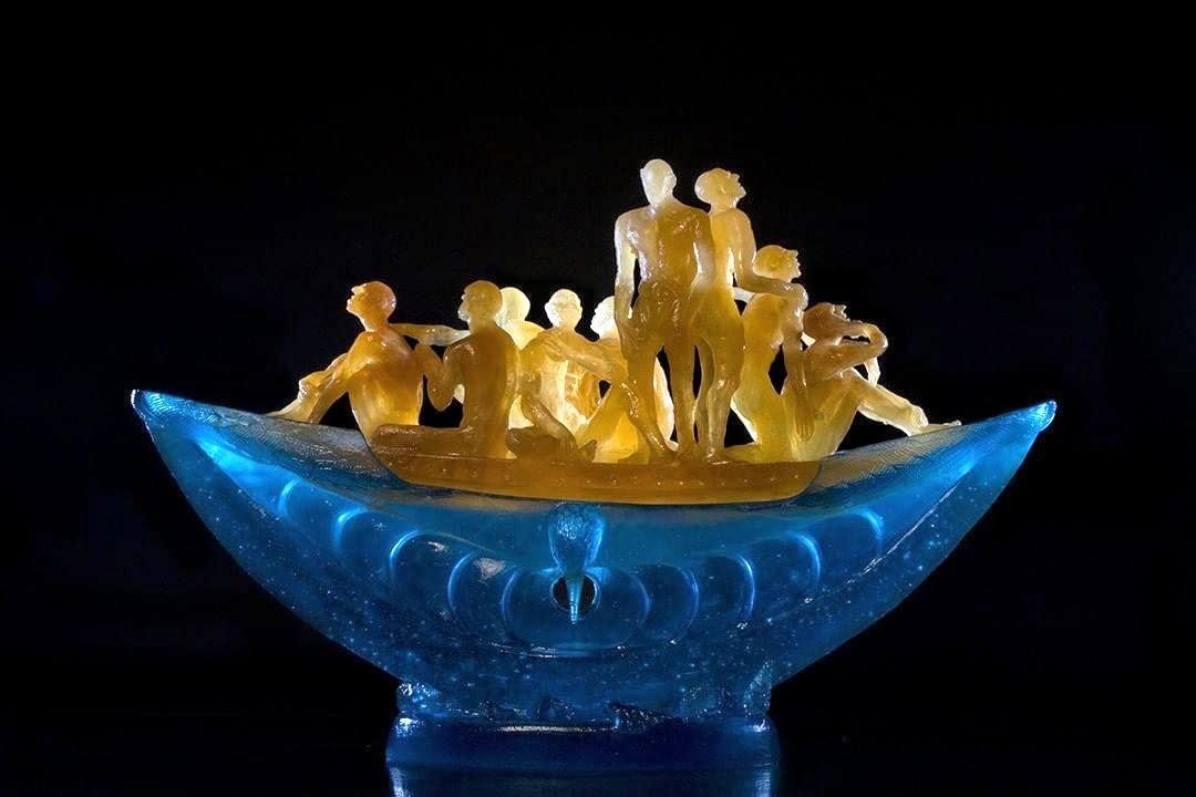 cast glass sculpture by Stephen Pon