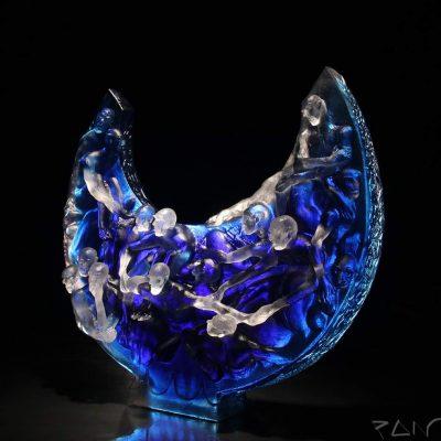 Stephen Pon cast glass sculpture
