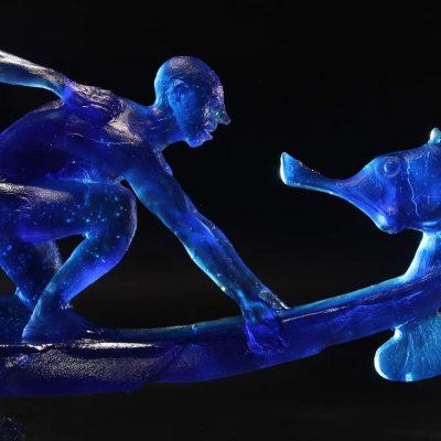 Stephen Pon glass sculpture