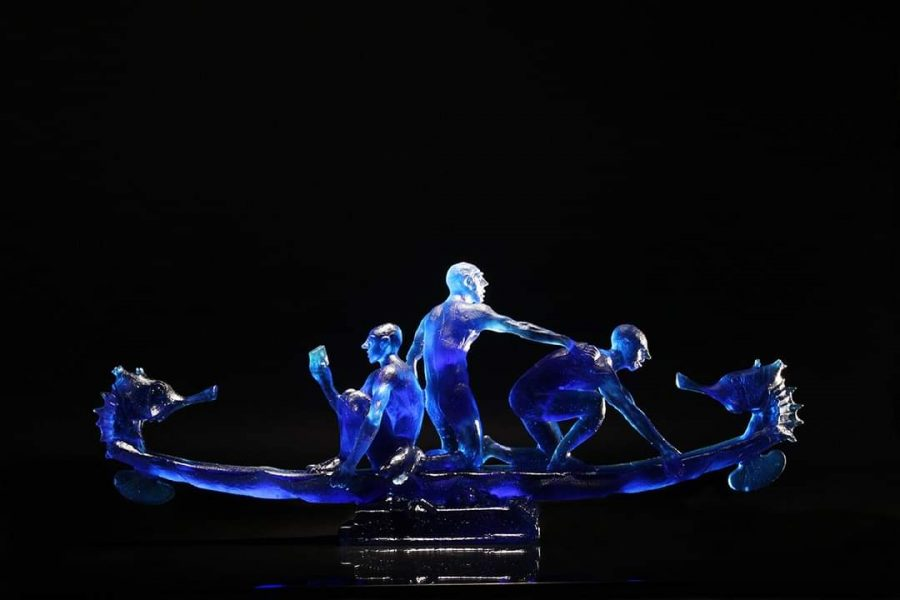 Stephen Pon cast glass art