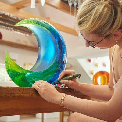 Glass sculpture by Ela Smrcek