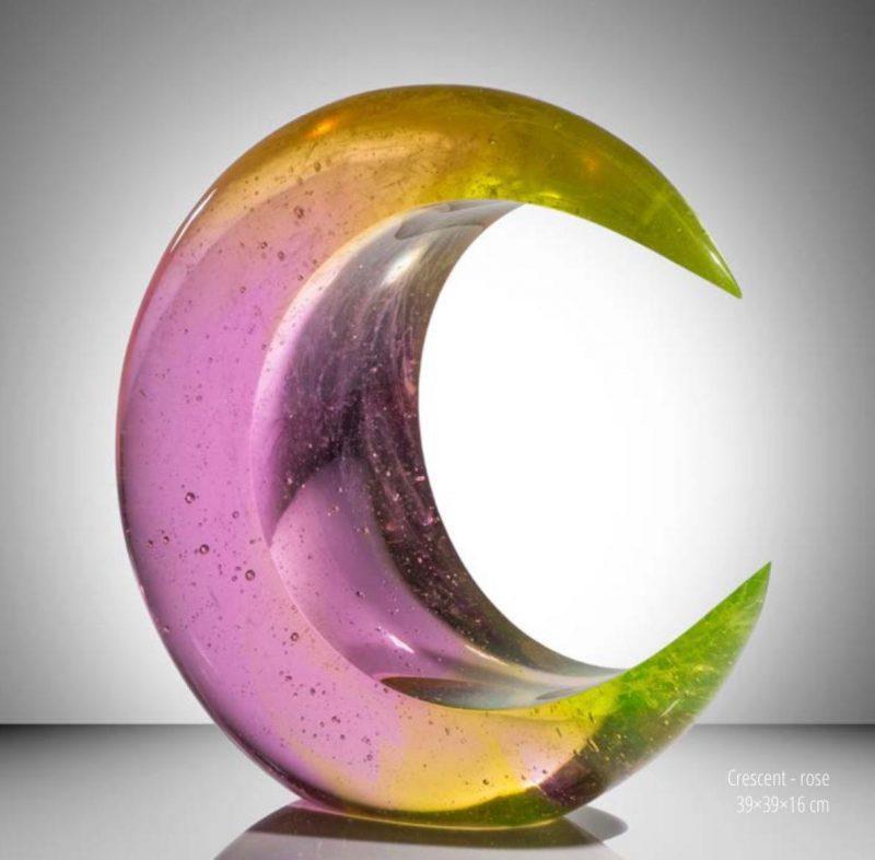 Ela Smrcek cast glass sculpture