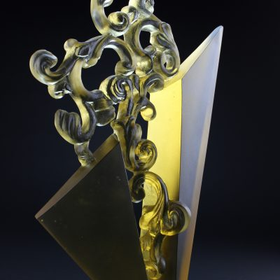 Cast glass sculpture by Chad Holliday