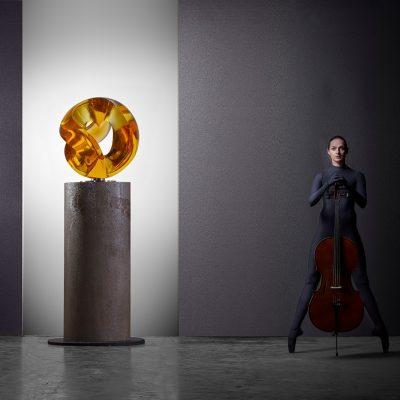 Vlastimil Beranek cast glass sculpture