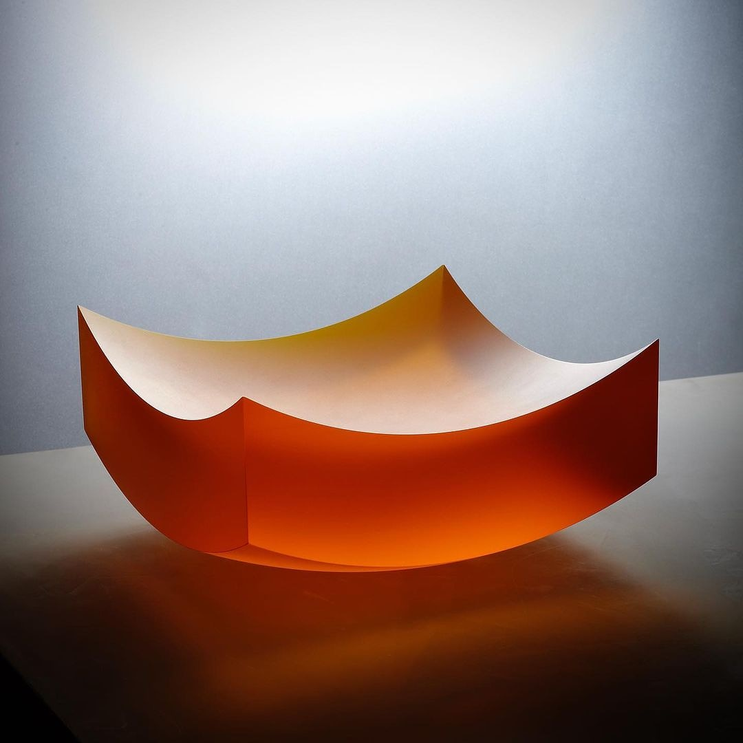Frantisek Vizner glass sculpture