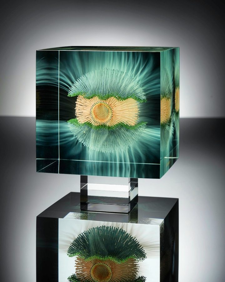 Wilfried Grootens Glass sculpture