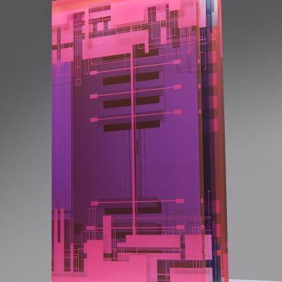Gyorgy Gaspar glass sculpture
