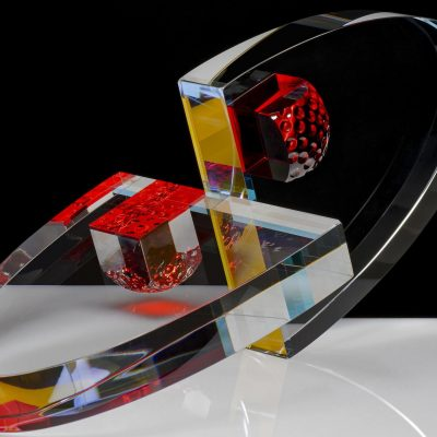 Peter Botos glass sculpture at Habatat Galleries