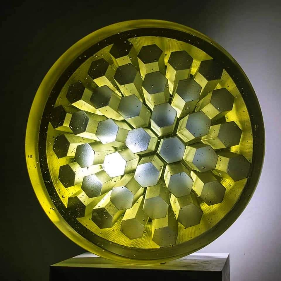Marek Brincko cast glass sculpture