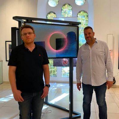 Krisztián Nagy and Csaba Molnár glass and light wall art