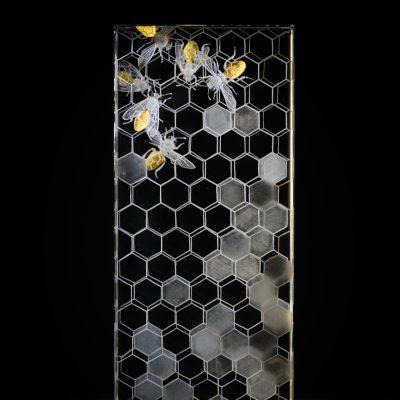 Nancy Sutcliffe engraved glass art