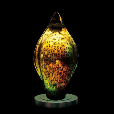 Peter Kuchler III. blown glass sculpture